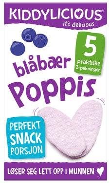 Kiddylicious Poppis Blåbær 5 x 2 pk fra 6 mnd, 20 g