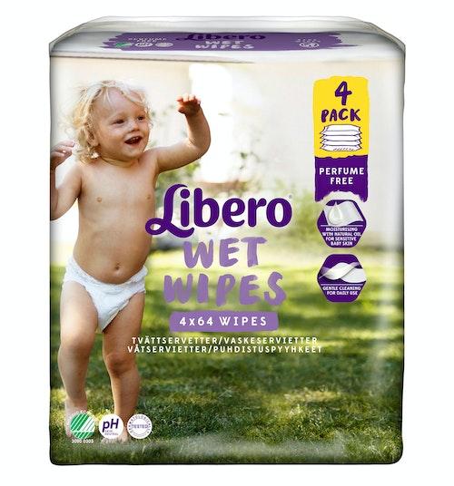 Libero Libero Våtserviett 4 pk, 256 wipes, 256 stk
