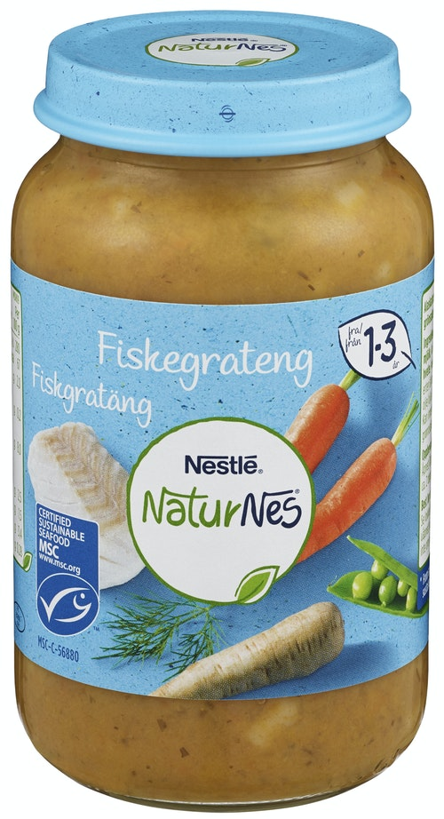 Nestlé Naturnes Fiskegrateng 1-3 år, 220 g