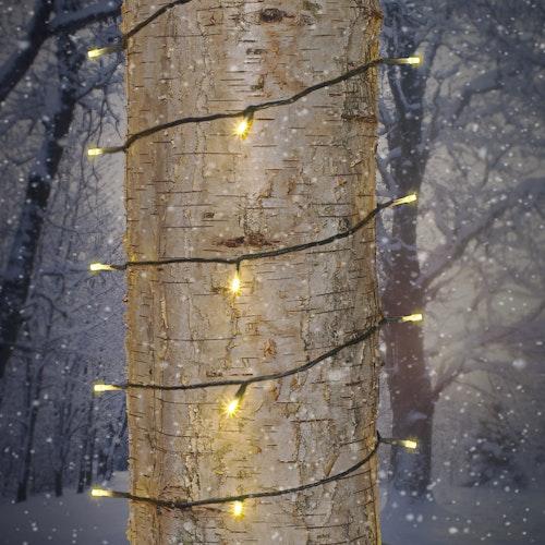 NORTHLIGHT Diodeslynge 80 lys varmhvit 12m med lys + 10m tilkoblingskabel, 1 stk