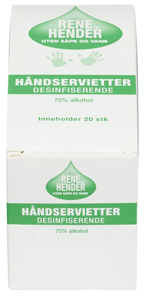 Rene Hender Wipes 20 stk