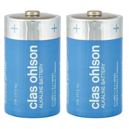 Clas Ohlson Co-batteri D/LR20 2 stk