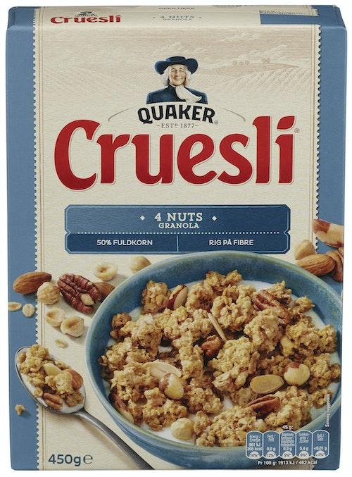 Quaker Crusli 4 Nøtter 450 g