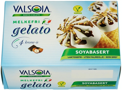 Valsoia Gelato Kroneis med Sjokolade Melkefri, 300 g