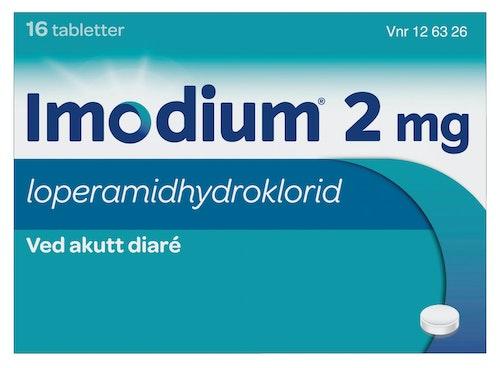 Imodium Tabletter 2mg, 16 stk