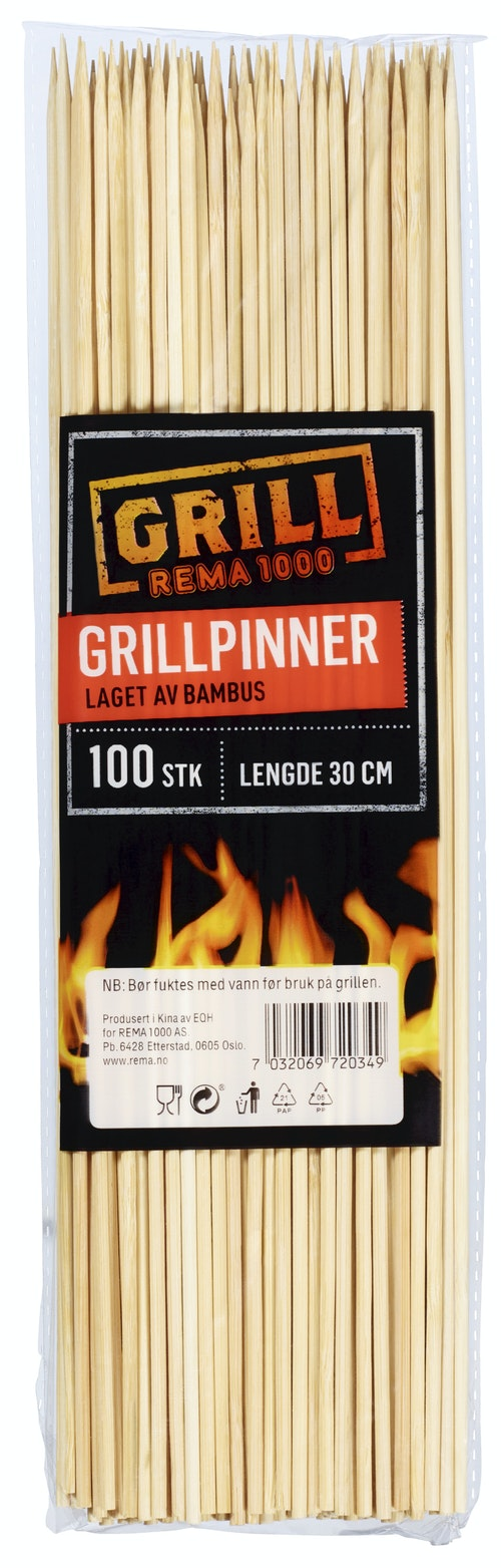 REMA 1000 Grillpinner i Bambus 100 stk