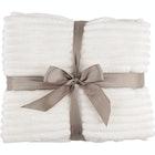 Fleecepledd hvit