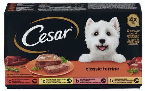 Cesar Country Special Selection 4 x 150 gr, 600 g