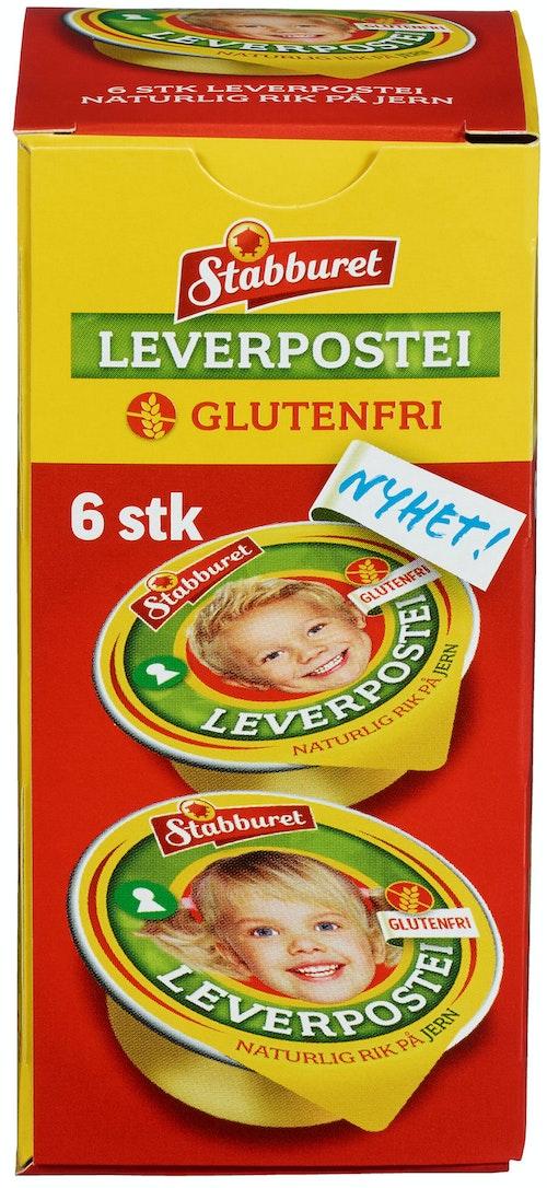 Stabburet Stabburet Leverpostei Glutenfri 6 x 22g, 132 g