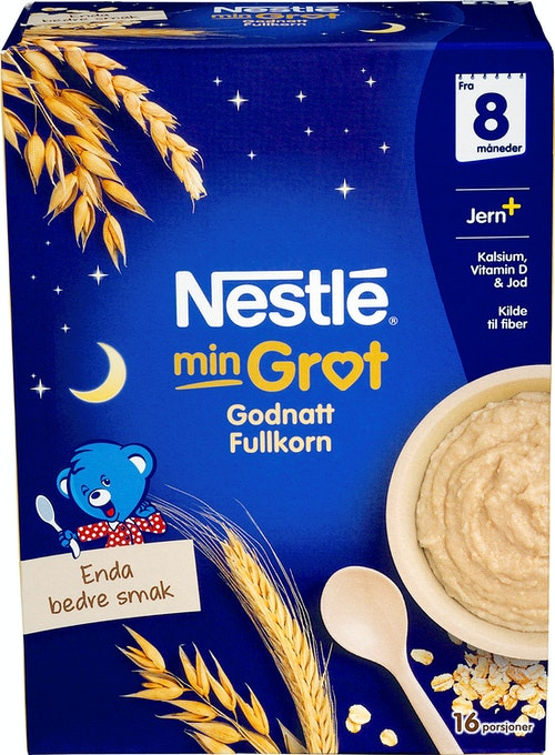 Nestlé Min Grøt God Natt Fullkorn Fra 8 mnd, 480 g