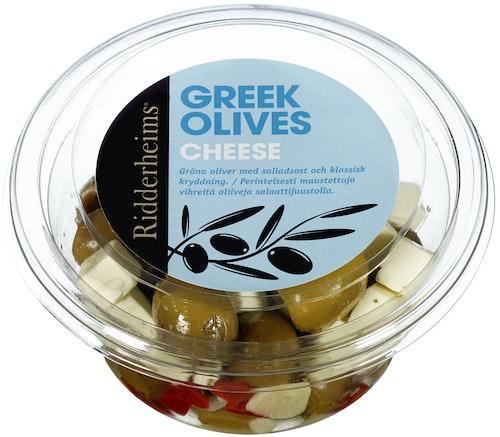 Ridderheims Greske Oliven Fylt Med Ost 150 g