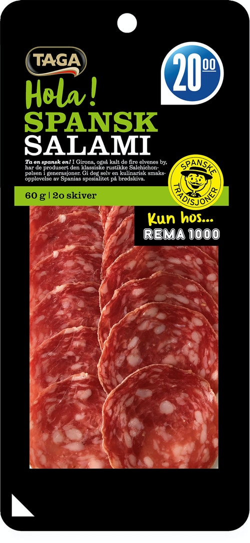 Taga Spansk Salami Spekepølse 60 g