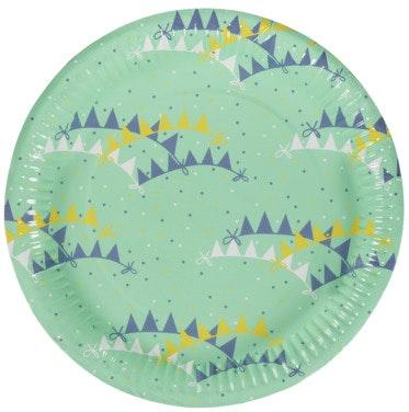 REMA 1000 Papptallerken Assortert variant, 22 cm, 8 stk
