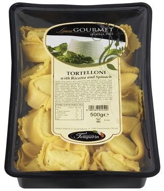 Antonio Temporins Fersk Tortelloni Med Ricotta og Spinat 500 g