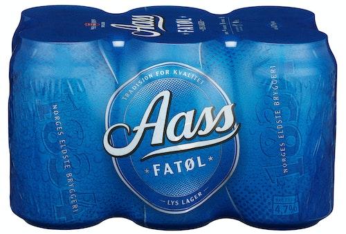 Aass Bryggeri Aass Fatøl 6x0,33 liter, 1,98 l