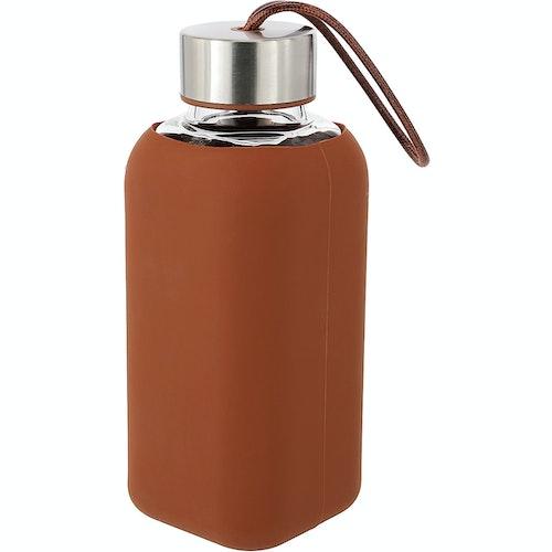 Clas Ohlson Vannflaske i glass Rust, 1 stk