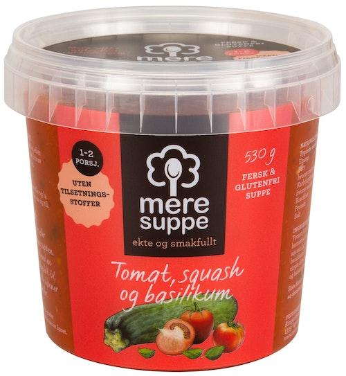 Mere Suppe Suppe med Tomat, Squash & Basilikum 530 g