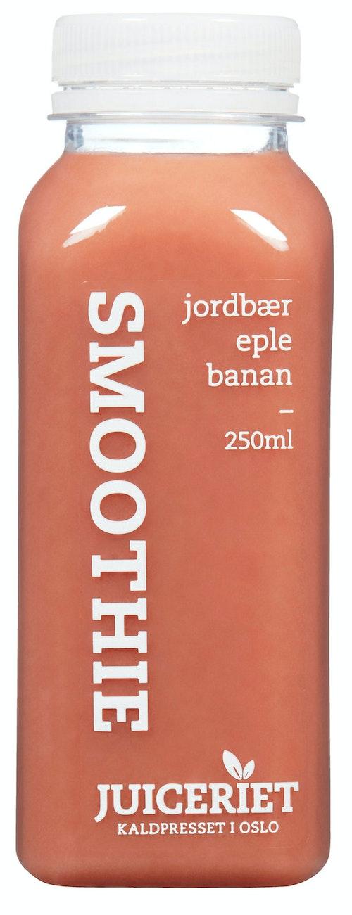 Juiceriet Smoothie Jordbær, Eple og Banan, 250 ml